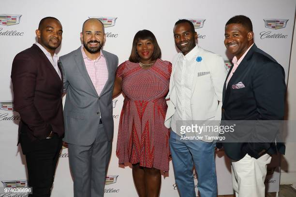 Detavio Samuels Jeff Meza Bevy Smith RahsanRahsan Lindsay and guest attend the Cadillac Welcome Luncheon At ABFF Black Hollywood Now The Temple House...