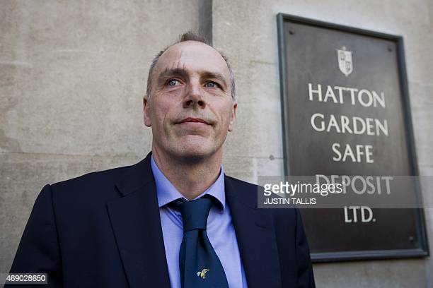 Detective Chief Inspector Paul Johnson of the Flying Squad, speaks to journalists outside Hatton Garden Safe Deposit Ltd following last weekend's...