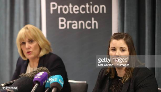 Detective Chief Superintendent Paula Hilman and Detective Chief Inspector Zoe McGee hold a press conference at the Hilton Hotel in Belfast in...