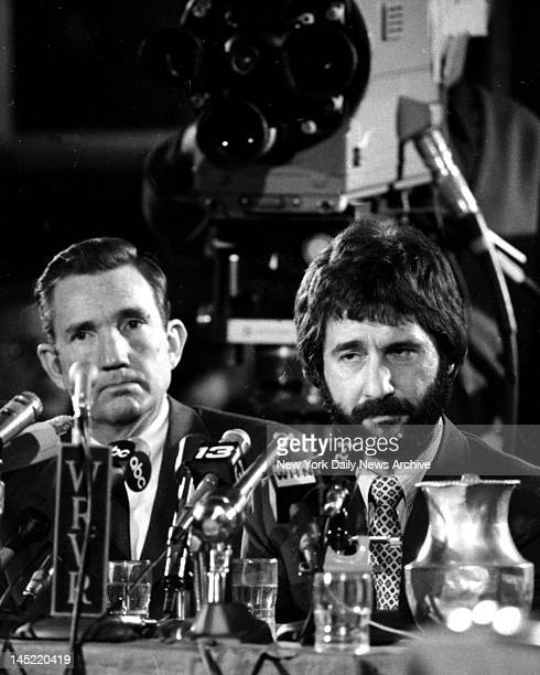 Detective Frank Serpico with Ramsey Clark before the Knapp Commission