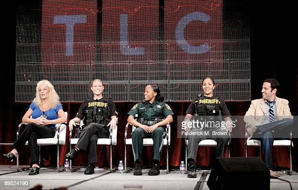 Detective Julie Bower Detective Andrea Penoyer Deputy Shelunda Cooper Detective Ana Murillo and executive producer Tom Foreman of the television show...