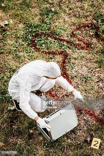 csi detektiv am tatort - pjphoto69 stock-fotos und bilder