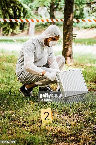 CSI Detective on crime scene