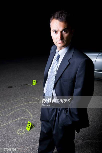 detective - chalk outline stock pictures, royalty-free photos & images
