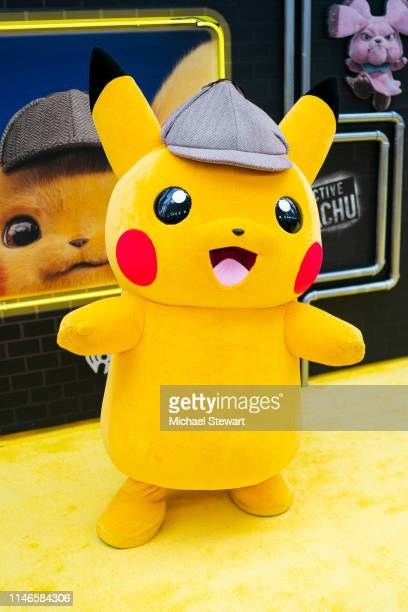 Detective Pikachu character attends the 'Pokemon Detective Pikachu' US Premiere at Times Square on May 02 2019 in New York City