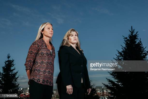 Westminster Colorado November 19 2015 Detective Stacy Galbraith and Sgt Edna Hendershot photographed in Westminster Colorado Galbraith was the lead...