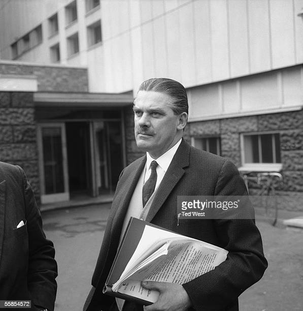 Detective Superintendent Bill Baldock outside Shepherd's Bush Police Station 18th February 1965 He is leading the investigation into the murder of...