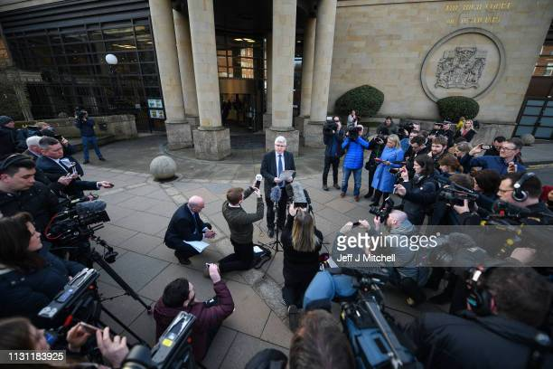 Detective Superintendent Stuart Houston senior investigating officer in the case for Police Scotland makes a statement outside Glasgow High Court...