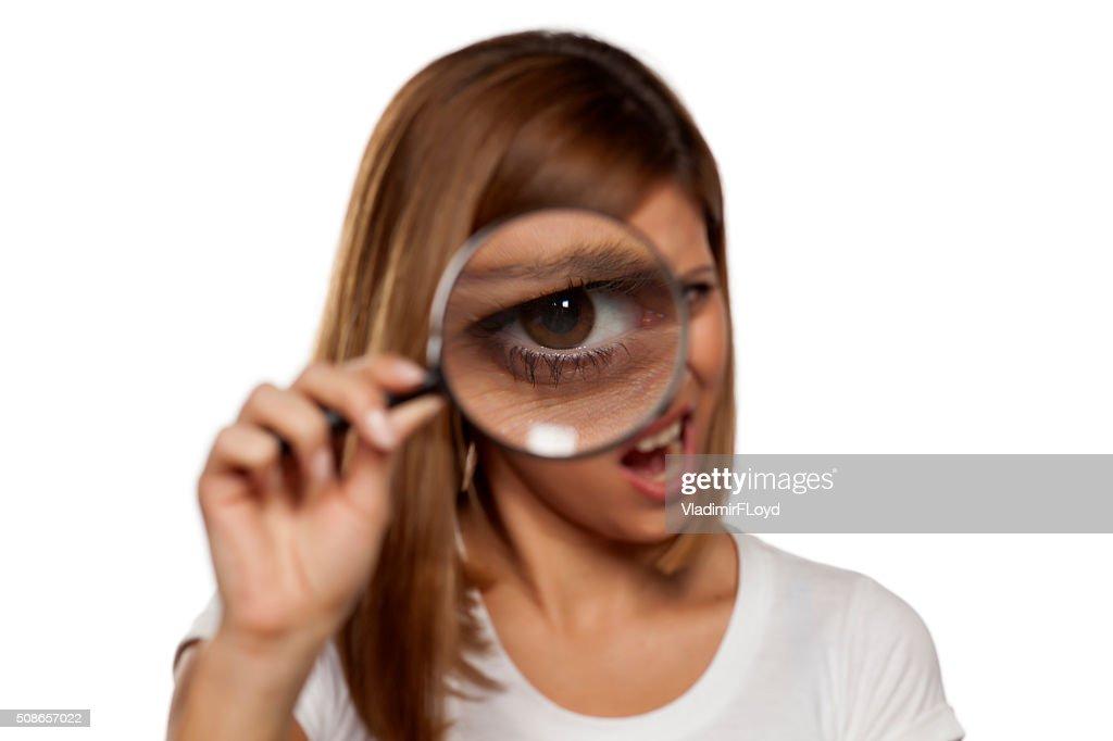 detective woman : Stock Photo