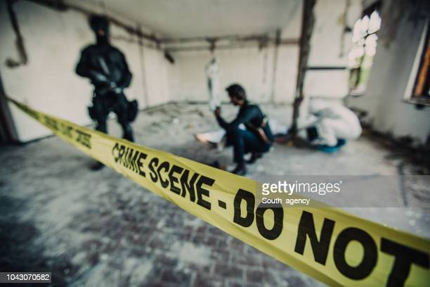 detectives on a crime scene - task force stock pictures, royalty-free photos & images