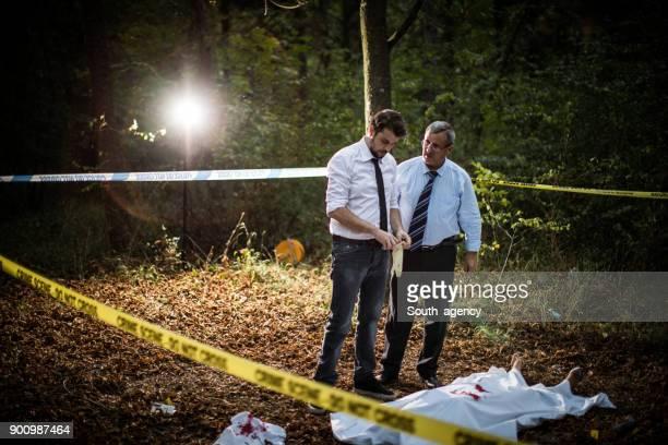 Detectives solving murder