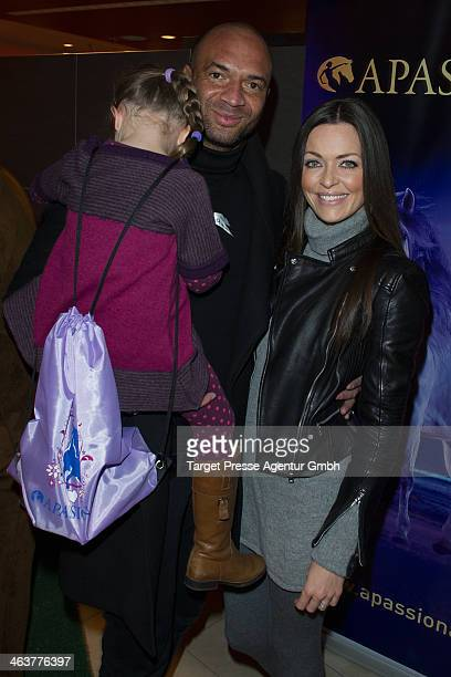 Detelf D! Soost, his wife Kate Hall and daughter Ayana attend the Apassionata VIP Reception at O2 World on January 19, 2014 in Berlin, Germany.