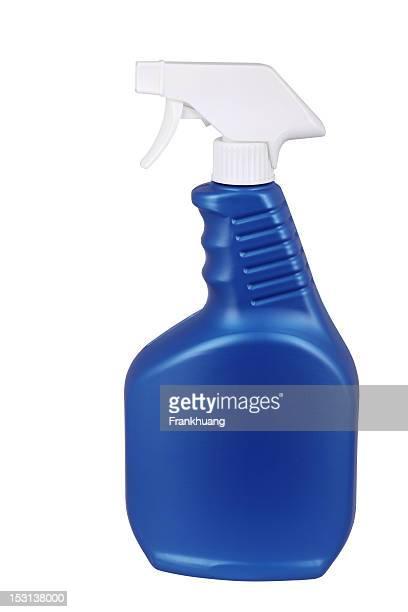 Detergente frasco sobre fondo blanco
