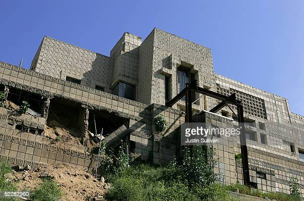 Deteriorating section of the Ennis-Brown House, designed by architect Frank Lloyd Wright in 1924, is seen March 7, 2005 in Los Angeles, California....