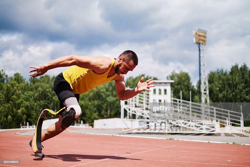 Determinated sportsman : Stock Photo