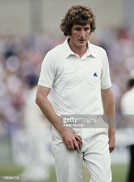 A determined Bob Willis of England prepares to bowl during the Australian 2nd innings of the Third Ashes Test between England and Australia on 21st...