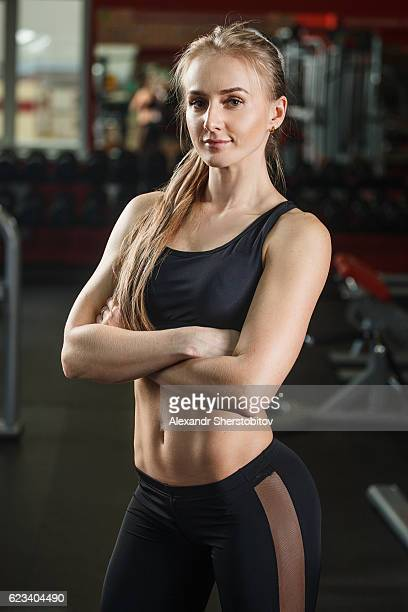 Determined female athlete
