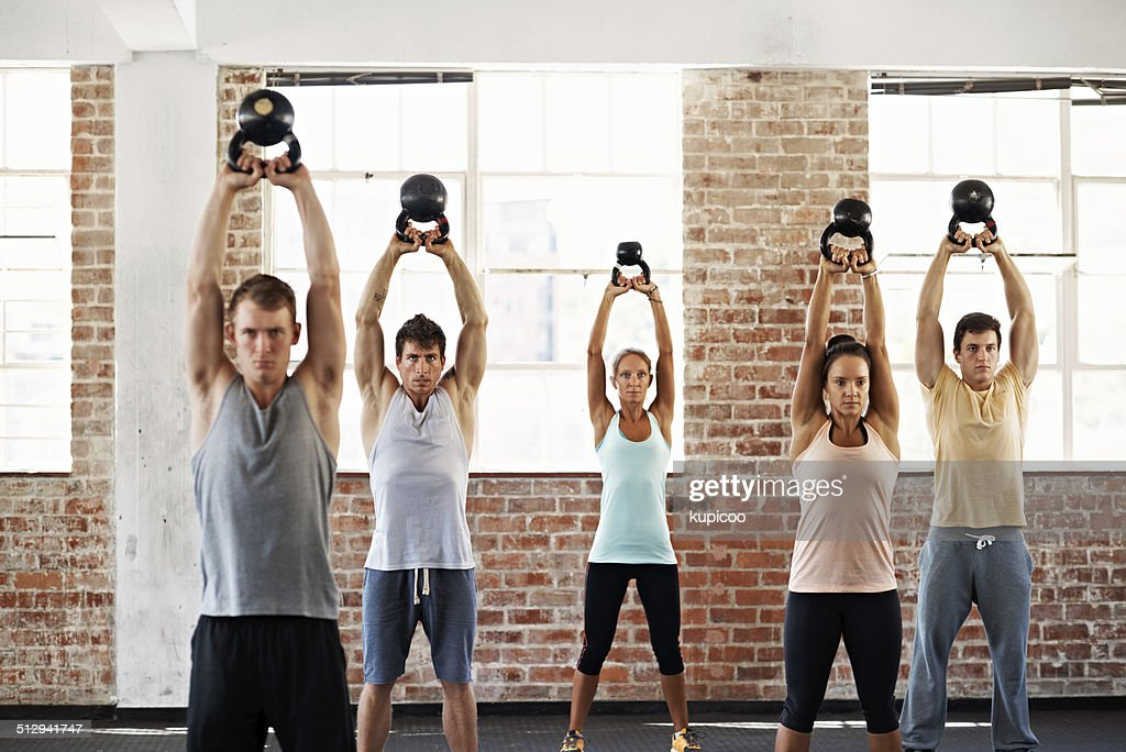 Determined to get stronger : Stock Photo