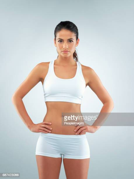 determined to live my healthiest - sports bra stock pictures, royalty-free photos & images