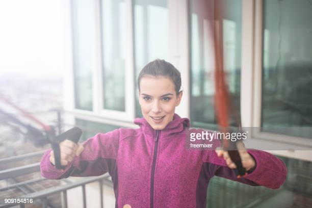 determinet to exercise - elastic bandage stock photos and pictures