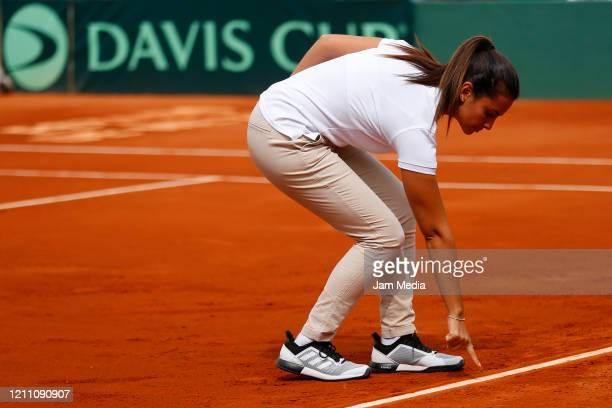 Detial of judge during the match as part of day 2 of Davis Cup World Group I Play-offs at Club Deportivo La Asuncion on March 7, 2020 in Mexico City,...