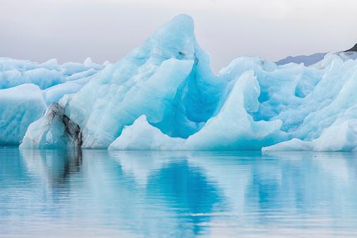 Detial view of iceberg in ice lagoon - Jokulsarlon, Iceland. 523259827