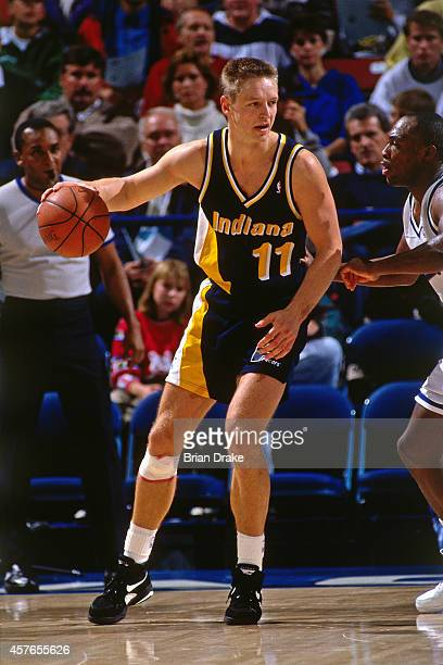 Detlef Schrempf of the Indiana Pacers posts up against the Sacramento Kings on December 10 1992 at Arco Arena in Sacramento California NOTE TO USER...
