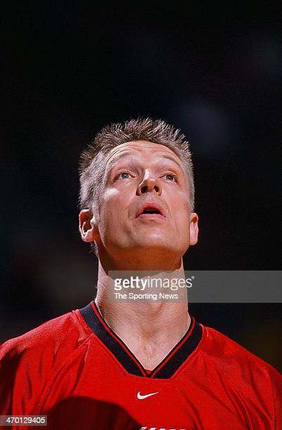 Detlef Schrempf of the Portland Trail Blazers during the game against the Charlotte Hornets on November 20 1999 at Charlotte Coliseum in Charlotte...