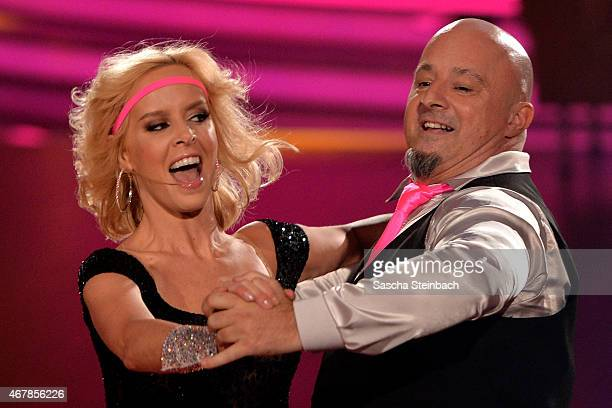 Detlef Steves and Isabel Edvardsson perform on stage during the 3rd show of the television competition 'Let's Dance' on March 27 2015 in Cologne...
