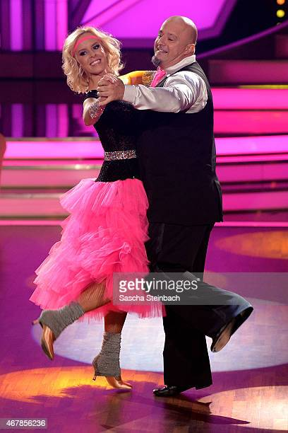 Detlef Steves and Isabel Edvardsson perform on stage during the 3rd show of the television competition 'Let's Dance' on March 27, 2015 in Cologne,...