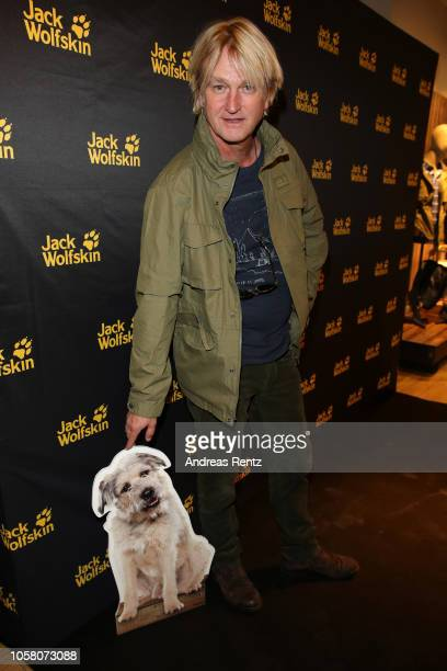 Detlev Buck attends the meet and greet at Jack Wolfskin flagship store prior to the movie premiere of 'Wuff' on October 22 2018 in Munich Germany