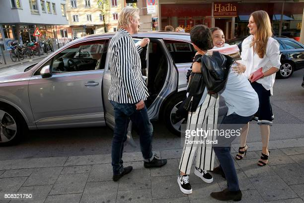 Detlev Buck Harriet HerbigMatten Oliver Berben and his wife Katrin Kraus during the premiere of ''Das Pubertier'' at Mathaeser Filmpalast on July 4...