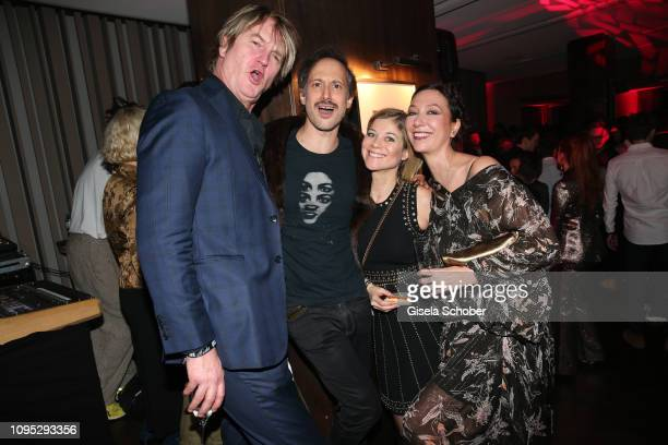 Detlev Buck Michael Ostrowski and his wife Hilde Dalik and Ursula Strauss attend the Berlinale Opening Night by GALA UFA Fiction at Das Stue on...
