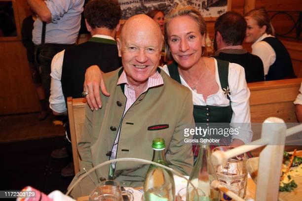 Detlev von Wangenheim and his wife Leslie von Wangenheim during the Oktoberfest 2019 at SchuetzenFestzelt beer tent / Theresienwiese on September 29...