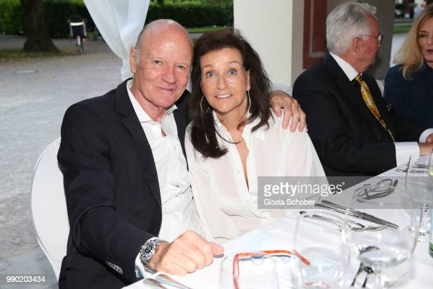 Detlev von Wangenheim and Karin Holler attend the Juwelendinner to celebrate the 25th anniversary of Juwelenschmiede and 50th birthday of Thomas...