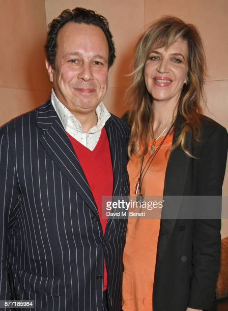 Detmar Blow and Martha Fiennes attend Louis Vuittons Celebration of GingerNutz in Vogue's December Issue on November 21 2017 in London England