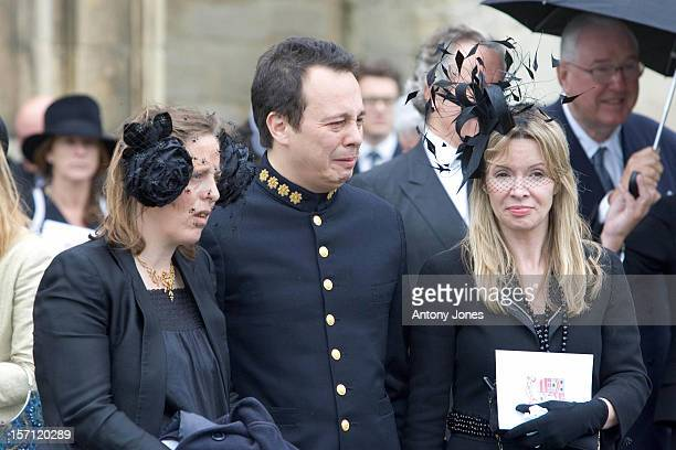 Detmar Blow Attends The Funeral Of Fashion Stylist Isabella Blow Held At Gloucester Cathedral