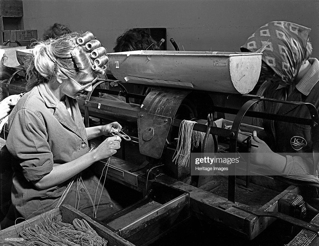 Detonator production, ICI plant, Denaby Main, South Yorkshire, 1962. Artist: Michael Walters : News Photo