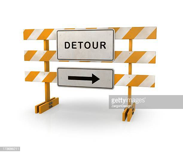 detour road barricade - barricade stock pictures, royalty-free photos & images