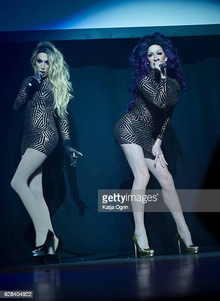 Detox and Alaska Thunderfuck 5000 perform during RuPaul's Drag Race 'Christmas Queens' Show at The O2 Institute Birmingham on December 7 2016 in...
