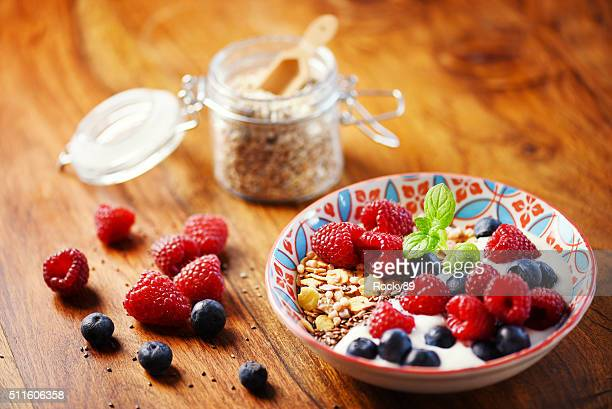detox breakfast - oatmeal stock photos and pictures