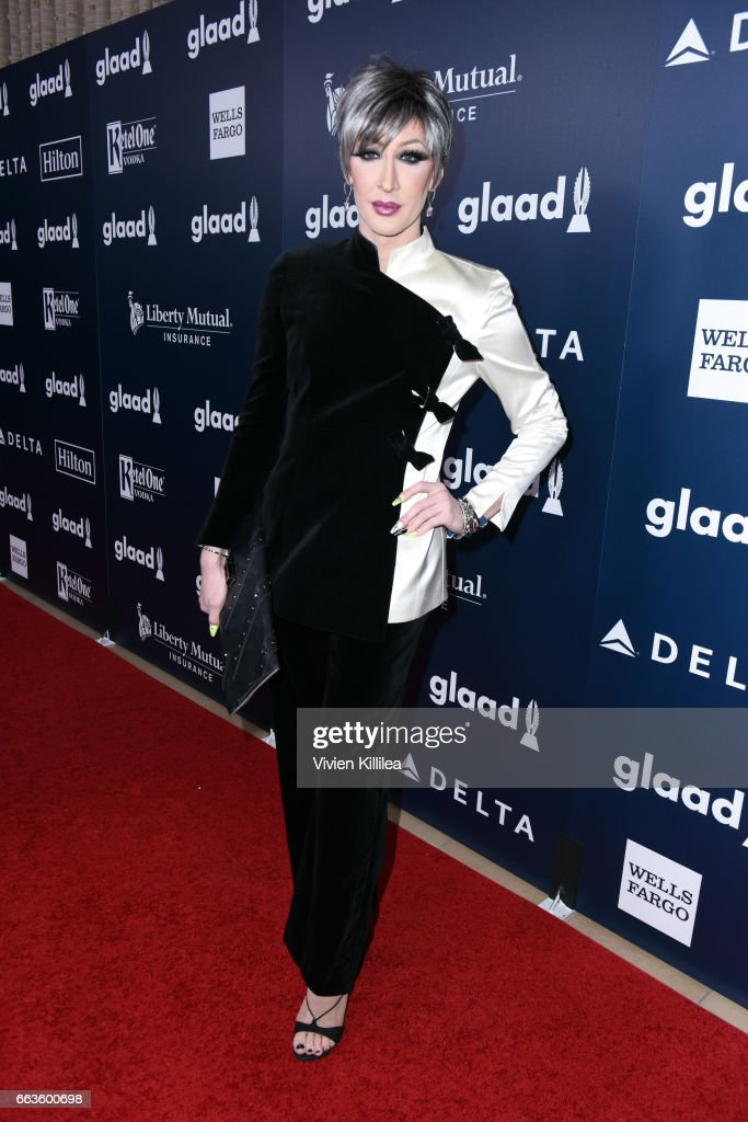 Detox Icunt attends the 28th Annual GLAAD Media Awards in LA at The Beverly Hilton Hotel on April 1, 2017 in Beverly Hills, California.