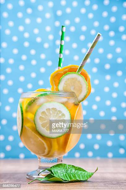 Detox or infused water with citrus fruits
