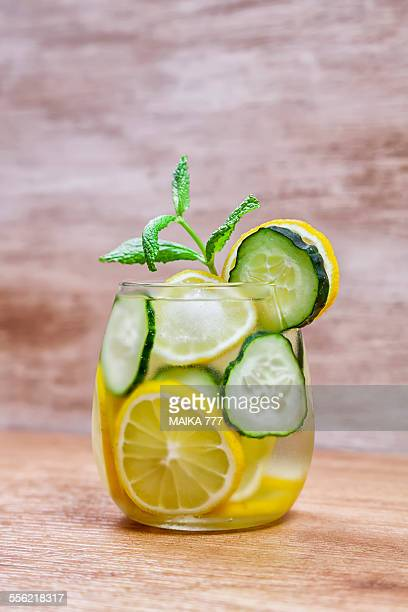 Detox water or Infused water of cucumber and lemon