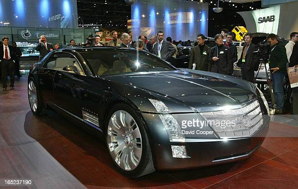 Detroit 2003 Cadillac Sixteen Concept car at the North American International Auto Show in Detroit MI It has a 16 cylinder 1000 hp Engine Jan 6 2003