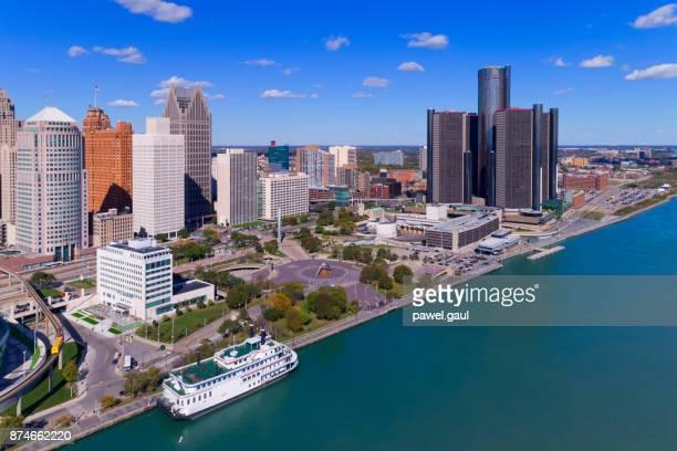 Detroit Aerial waterfront