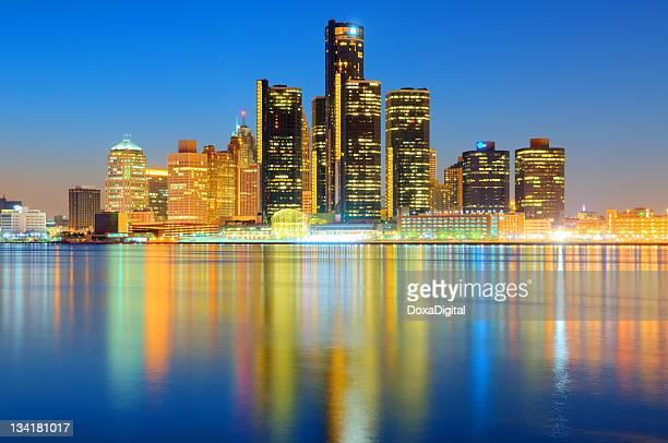 デトロイトの街並み(街並みの眺め - デトロイト ストックフォトと画像