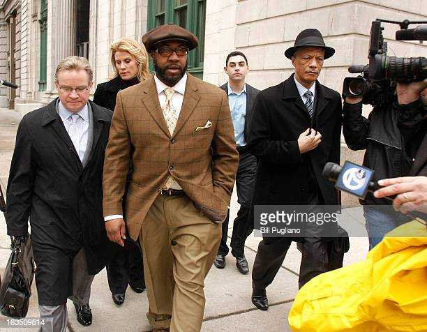 Detroit contractor Bobby Ferguson arrives at US District Court to hear the jury's verdict in his public corruption trial March 11 2013 in Detroit...