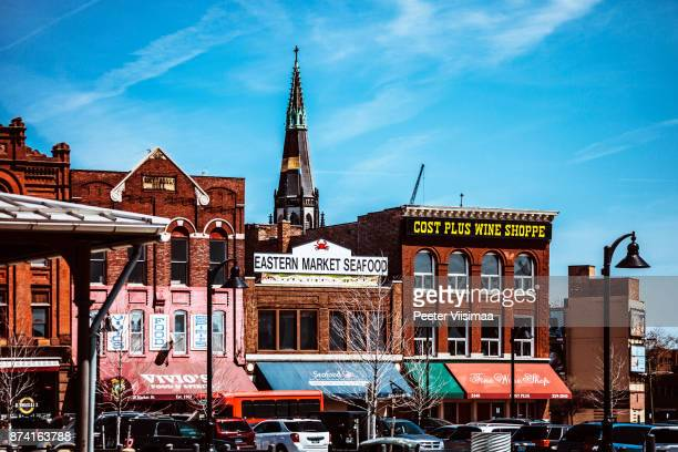 detroit - eastern market - detroit michigan stock pictures, royalty-free photos & images