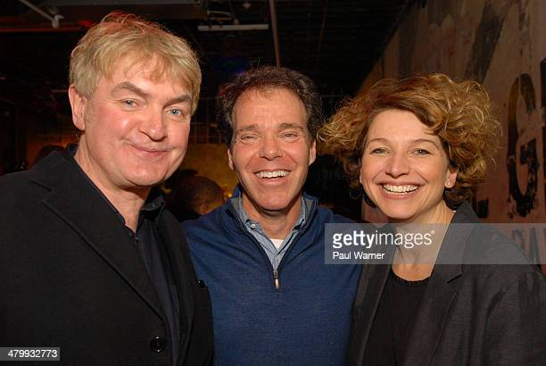 Detroit Institute of Music Education founders Kevin Nixon and Sarah Clayman pose with Beringea LLC founder Charlie Rothstein at the opening of the...